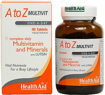 HEALTH AID A TO Z MULTIVIT - 90 TABLETS multi Vitamin with minerals and lutein