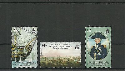 Biot Sg344-346 Bicentenary Of The Battle Of Trafalgar  Set (2Nd Issue )  Mnh