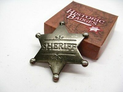 SHERIFF Old West Style STAR Badge Antique Replica Reproduction MI3018 New!