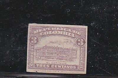 columbia unissued,die proof on carton,imperf       f460
