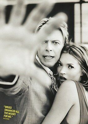 David Bowie - Bowie & Kate Moss - A4 Photo Print