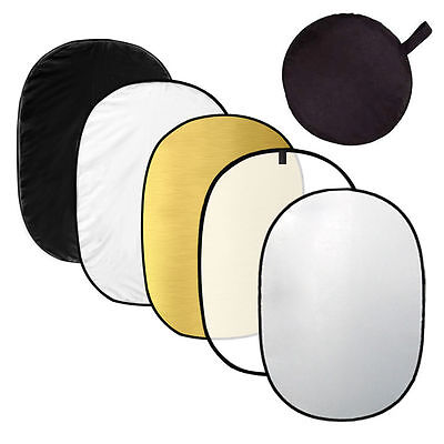 """40x60"""" 5in1 Photography Light Mulit Collapsible Portable Photo Reflector 110x150"""