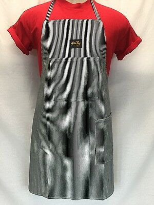 NEW Unisex STAN RAY Hickory Stripe Denim Shop Apron 2-pocket Made in USA