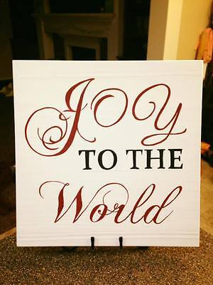 Christmas wooden hand painted sign wall hanging home decor