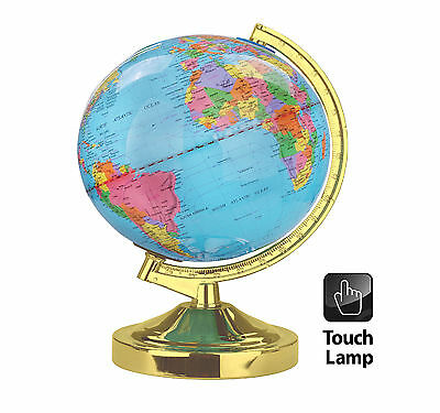 Desk Rotating World Globe Lamp Kids School Home Office Geography Atlas Map Earth
