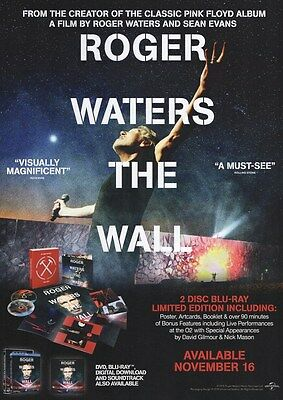 Pink Floyd - Roger Waters - The Wall 2 Disc Blue Ray - A4 Photo Print