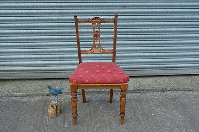 Antique Mahogany Hall Bedroom Dining Chair Edwardian.