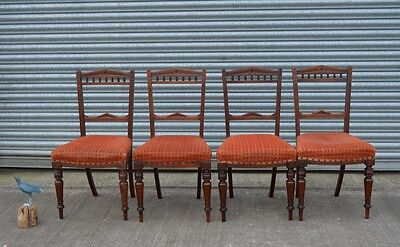 4 Antique Mahogany Dining Chairs Edwardian.