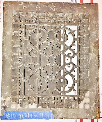 Antique Vintage Floor Wall Grate Heat Air Return Register Vent  Iron Salvage #10