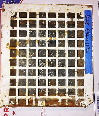 Antique Vintage Wall Grate Heat Air Return Register Vent Cast Iron Salvage #28