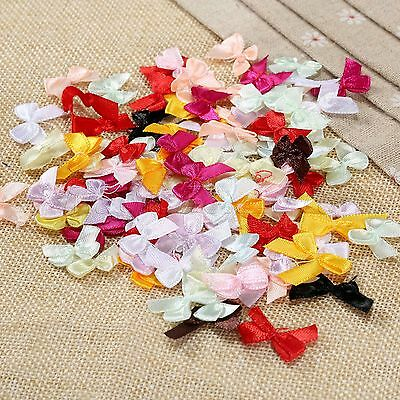 100pcs Hot Mini Satin Ribbon Bows DIY Craft Clothes Sewing Wedding Decoration