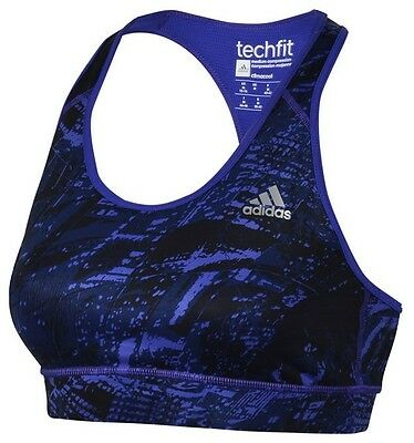 New Adidas Sports Bra Top, Ladies Womens - Gym Training Fitness Running - Purple