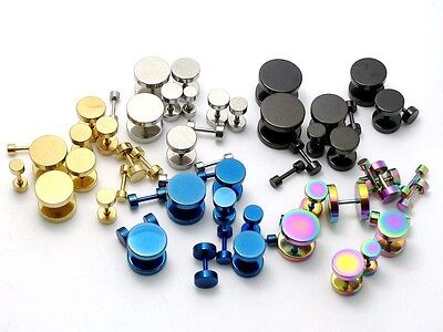 3mm - 14mm Fake Cheater Earplug Illusion Piercing Tunnel Earring Ear Plug Taper
