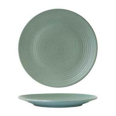 6x Coupe Plate, Ribbed, 265mm, Zuma 'Mint' Green, Commercial Crockery / Cafe