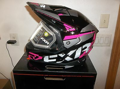 New Fxr Fx-1 Team Helmet With Electric Shield, Gloss Black/fuchsia, Small