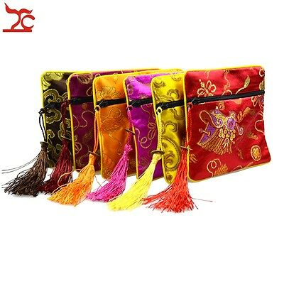 Multi Color China Silk Bag National Style Accessory Jewelry Packing Gift Pouch