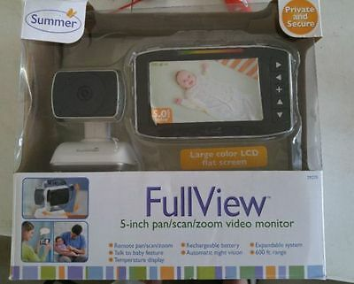 """Summer Infant Full View 5"""" Video Baby Monitor brand new"""