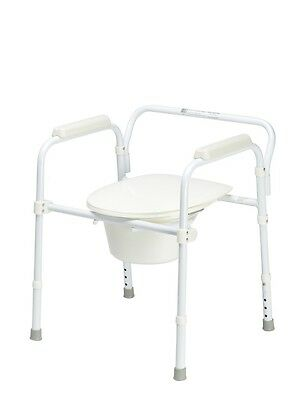 Commode - Lightweight Bathroom Over Toilet Frame Support Aid, Folds for  Storage