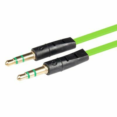 Green 3.5mm AUX AUXILIARY CORD Male Stereo Audio Cable 3FT FOR iPod MP3