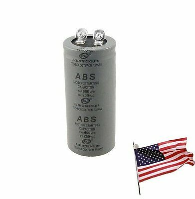 US Metallized Polypropylene Film 600uF AC 250V Motor Starting Capacitor 600MF