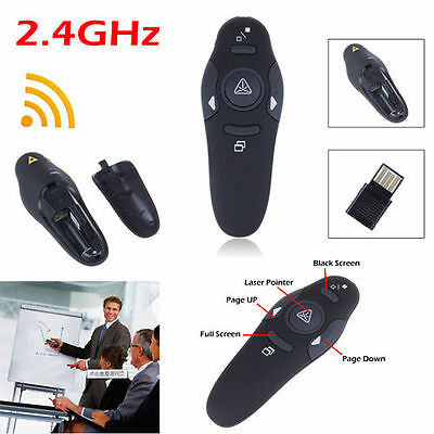New Wireless USB PowerPoint PPT Presenter Remote Contol Click Laser Pointer Pen