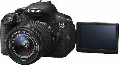 "CANON EOS 700D DSLR 3"" DIGITAL CÁMARA CON 18-55MM f/3.5-5.6 LENTE DE ZOOM 18MP"
