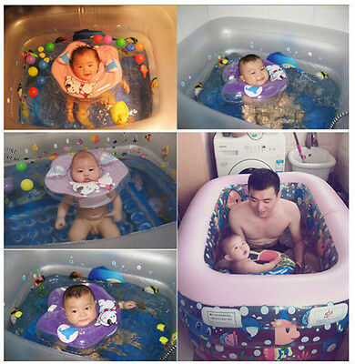 Baby's Inflatable Adjustable Double Protection Collar Swimming Neck Float Ring
