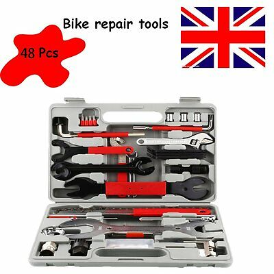 48PC Bike Cycling Bicycle Maintenance Repair Tool Hand Wrench Kit Set Box Case
