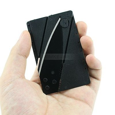 Credit Card Steel Knife Wallet Folding Portable Safety Outdoor Survival Kit Tool