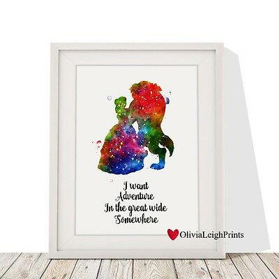 Disney Beauty And The Beast Art Print-Wall Art-Gift-Nursery Quote-Home Decor