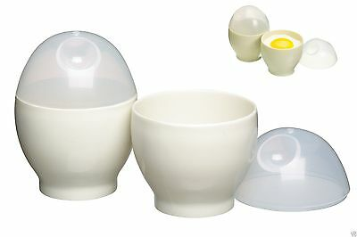 Set Of 4 Microwave Egg Cookers Easy Cook Poach Eggs Fast Free Postage