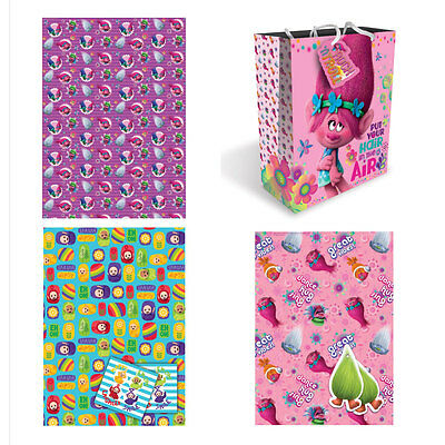 Trolls Gift Wrap & Tags (Assorted)