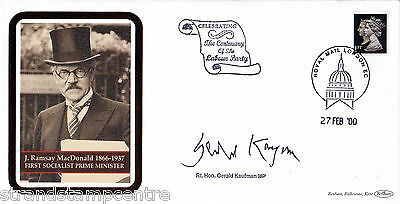 2000 Labour Party Centenary Cover - Signed GERALD KAUFMAN