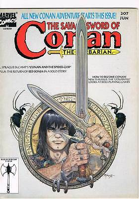 Savage Sword of Conan # 207 Bugs, Brigands, Blind Seers ! grade - 8.0 scarce !!
