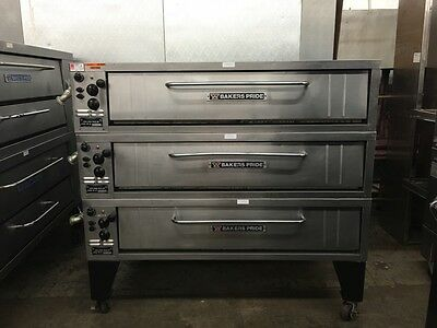 "Bakers Pride E541 - 54"" Triple Stack Electric Pizza Deck Oven - Refurbished"