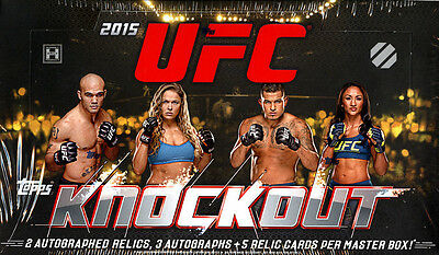 2015 Topps UFC Knockout Hobby Factory Sealed Box