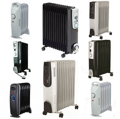 5/7/9/11 Fin 240V Portable Electric Oil Filled Radiator Electric Caravan Heater