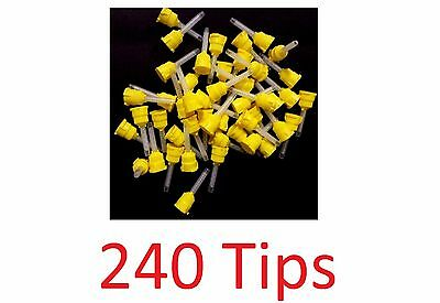 240X Mixing Tips VP8105T Defend MIXPAC T-Style Impression Yellow 4.2mm 1:1 FDA
