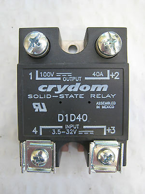 Crydom D1D40 3.5-32V Input 100V 40A Output Solid State Relay Used Free Shipping