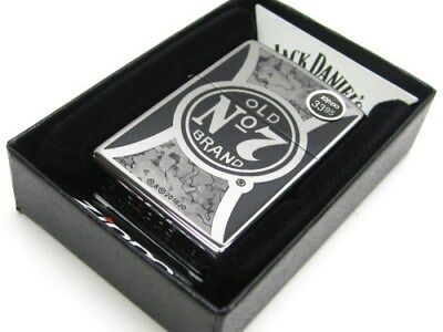 Zippo Full Size Polish Chrome Jack Daniels Old No. 7 Windproof Lighter 29233