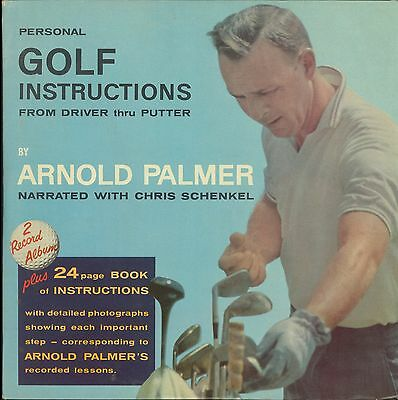 Arnold Palmer golf instruction 2 LP set with 24 pg booklet 1963 Mercury Comet AD