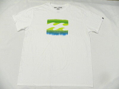 Billabong Men Orlando White T Shirt Sz Large Tee