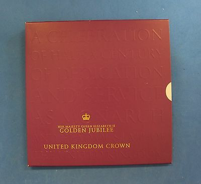 "2002 Royal Mint £5 Crown ""Golden Jubilee"" in Folder  (V5/60)"