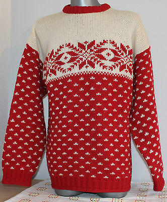 Mens FOREST NATURE 100% Wool Nordic Norway Sweater Jumper Telemark Dale Of. L