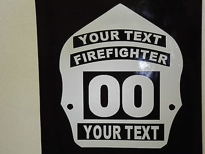 Firefighter Helmet Shield Badge Decal Custom Sticker