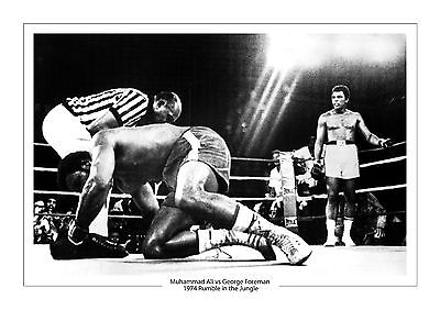 Muhammad Ali Vs George Forman A4 Print Photo Boxing 1974 Rumble In The Jungle