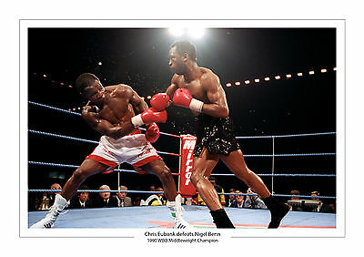Chris Eubank Vs Nigel Benn A4 Print Photo Boxing 1990 Birmingham 4