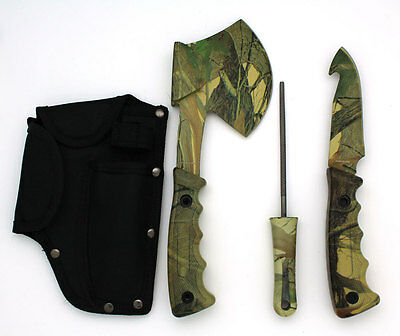 Snake Eye Tactical Heavy Duty 4PC Big Game Hunting Knife Set Jungle Camo Camping