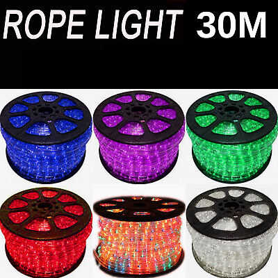 30M Party Christmas Wedding Rope Lights With Power Cord