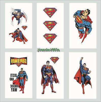 1-100 Super Heroes Superman Temporary Tattoos Kids Party Favors Bag Stickers